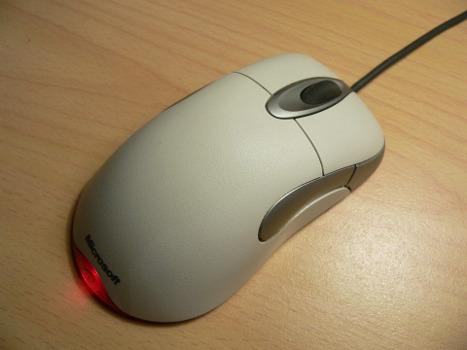 Computer mouse on desk