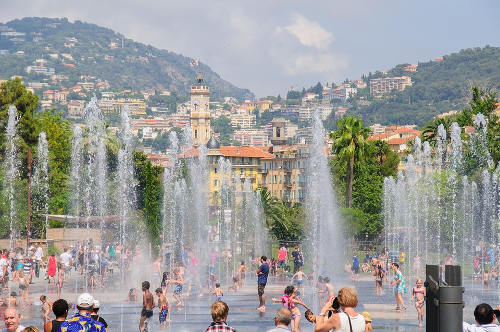 The water feature in Nice, France