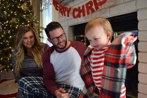 A family Christmas celebration